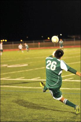 Soccer player performing an indirect kick